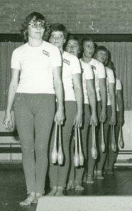 turndames van gymnastiekvereniging SSS in Ons Huis